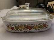 Rare Vintage Corning Ware Spice Of Life Le Romarin A 10 B With Lid P 12 C Pyrex
