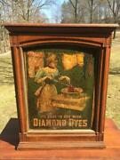 Antique Diamond Dyes Countertop Cabinet Display Advertising Country Store Vtg
