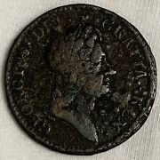 1723 Rosa Americana Colonial Half Penny Crowned Rose L614
