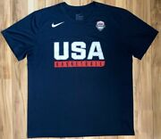 Nike Team Usa Basketball 2016 Rio Olympic Team Practice Shirt Dri Fit - Menand039s Xl