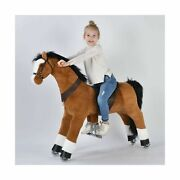 Ufree Action Pony, Large Mechanical Horse Toy, Ride On Bounce Up And Down And...