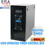 New Pro Coin Operated Timer Control Box Electronic Device Coin Selector Usa
