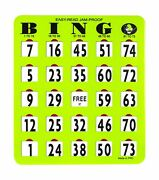 Mr Chips Jam-proof Easy-read Large Bingo Cards With Sliding Windows 100 Cards