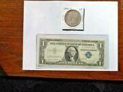 1880-o 1 Morgan Silver Dollar And 1957a 1 Silver Certificate Note Lot 1 Each