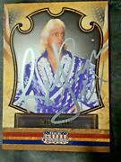 Ric Flair The Nature Boy Wwe Signed Autographed Panini 2011 Trading Card Rare