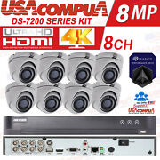 Hikvision 4k Security System 8 Channel Cctv 8ch 5mp Vandal Proof Hdd Included