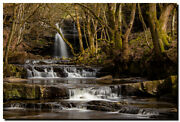 Summerhill Force And Gibsons Cave Uk 30 X 20 Canvas Waterfall Photography