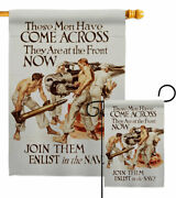 Join Them Enlist Garden Flag Navy Armed Forces Decorative Gift Yard House Banner
