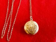 Victorian First Communion Christian Dbandco Gold Filled Locket Pendant Necklace