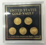 Lot Of 5 2011 5 Five Dollar Gold American Eagle Coin 1/10oz .10