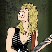 Randy Rhoads By Anthony Parisi Limited Edition Print