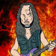 Kirk Hammett By Anthony Parisi Limited Edition Print