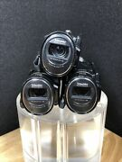 Lot Of 3 Samsung Hmx-h300bn Full Hd 1080i Mini Camcorder 5mp 30x. For Parts Jhb3
