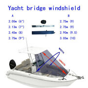 Top Motorboat Sun Shade Canopy Mount On Tower Yacht Awning Cover Cloth Tent