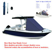 T-top Bow Boat Sun Shade Cover Mount On Tower Yacht Cloth Awning Driving Shelter