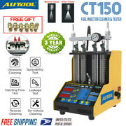 Autool Ct150 Ultrasonic Fuel Petrol Injector Cleaner Machine For Car Motorcycle