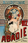Riz Abadie Papier A Cigarettes Vintage Art Wall Room Poster - Poster 24x36