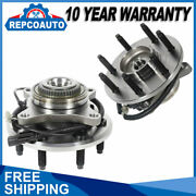 4wd Pair Front Wheel Bearing Andhub Assembly For 2011-14 Ford F-150 W/abs 7 Lug