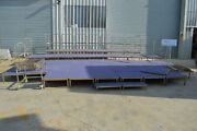 Portable Multi Level Stage Dance Floor Approx 28m2 Adjustable Height Andpound6000+rrp