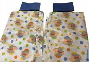 2 Dumbo Disney Baby Cartoon Fabric Blue And White Color Colorful Circus Balls