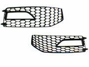13-16 Audi A4 B8.5 Rs4 Style Fog Vent Grilles For S-line Front Bumpers B85