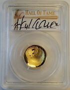 2014-w Baseball Hall Of Fame 5 Proof Gold Coin Hank Aaron Signed Pcgs Pr70 Fs