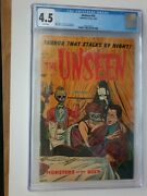 The Unseen 14 Standard 1954 Cgc Vg+ 4.5 White Pages.