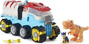 Paw Patrol Dino Rescue Dino Patroller Vehicle With Chase And T-rex Figures - New