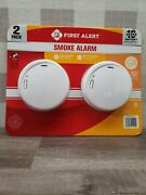 First Alert Smoke And Fire Alarms 10 Year Sealed Battery Slim Design 2 Pack ✅