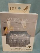 Manor Lane Home Collection 20 Clear Clip Shimmer String Lights 10 Feet