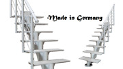 Aluminum Outdoor Central Stringer Side Straight Staircase Stairs Light Weight