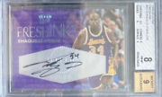 1999-00 Ultra Fresh Ink Shaquille Oandrsquoneal On Card Auto /200 Bgs 8/9 La Lakers