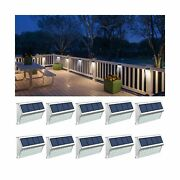 Fence Lights, Solar Deck Lights Outdoor With 30 Led Waterproof Step Lighting ...