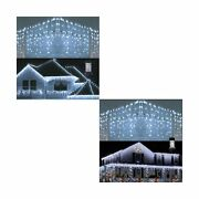 Toodour 360 Led Christmas Icicle Lights 29.5ft And 432 Led Christmas Icicle L...