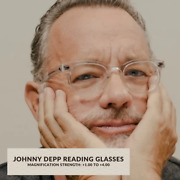 Vintage Retro Johnny Depp Style Reading Glasses Mens Round Crystal Solid Acetate