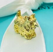 And Co 18k Yg Terrier Dog Charm