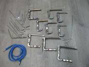 Pilling Surgical Ent Laryngoscope Set With Light Carriers And More 52-2004