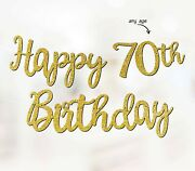 Personalised 70th Birthday Banner Party Decoration Any Age 50th 60th P1168