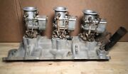 Sbc 3x2 Tri Power Edelbrock C355 Intake With Stromberg 97s With Sp Racing Tops