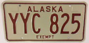 Ak Exempt Police Sheriff License Plate State Trooper Government Officer Law Fop