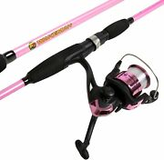 Wakeman Strike Series Spinning Rod And Reel Combo Hot Pink