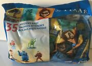 Disney Pixar Figurines In 35x Mystery Bags The Incredibles, Nemo, Brave, Coco