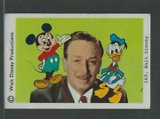 1968 Walt Disney Card With Mickey Mouse And Donald Duck Rare Dutch Card 169