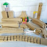 Thomas The Train Wooden Railway Lot Whistle Signs Wacky Track 38 Pieces