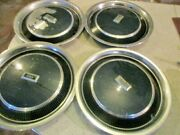 1978 1979 And 1980 Oldsmobile Cutlass Hubcaps 14 Blue - Wall Hanger / Rat Rod