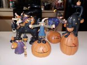 Williraye Studio Halloween Witch Crows Black Cat Pumpkins Collectible Collection