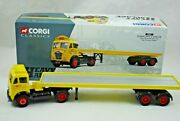Corgi 150 Foden Fg Truck And Long Plat-form Trailer In Edward Beck And Son Logo Mib