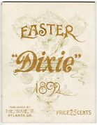 1892 Dixie Magazine, Southern Business And Industry Magazine, Easter, Industrial