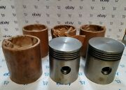 425-6 Minneapolis- Moline Pistons By Gould P2134 +030 Set Of Six. Nos
