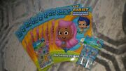 New Bubble Guppies Giant Coloring Books - Birthday Party Favors - Lot Of 8